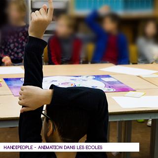 HANDIPEOPLE, sensibilisation à l'école